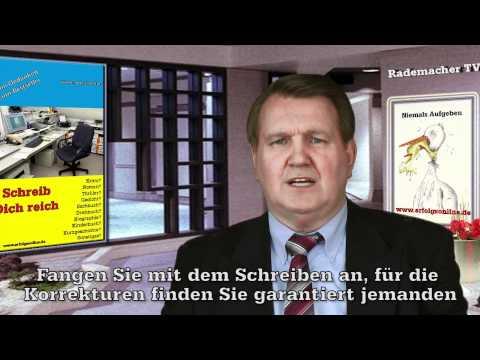 Buch schreiben - Autor Verlag Lektor Verleger - vom Gedanken zum Bestseller from YouTube · Duration:  3 minutes 13 seconds