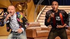 Antoine und Stefan rappen im 80er Jahre-Glitzerfummel - Teddy Teclebrahn - TV total