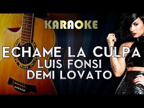 Luis Fonsi & Demi Lovato - Échame La Culpa | Acoustic Guitar Karaoke Instrumental Lyrics