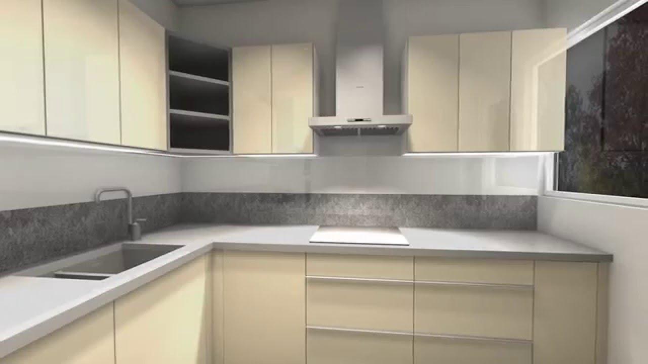 Klein trendy keuken graniet werkblad gelakte keukenfronten youtube