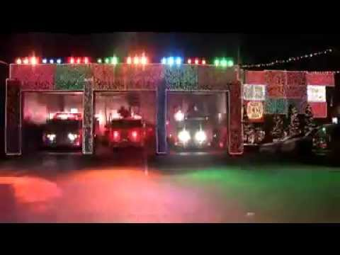 Fort Lee Fire Department Christmas Lights - YouTube