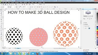 how to make 3d ball design with fish eye tool in corel draw