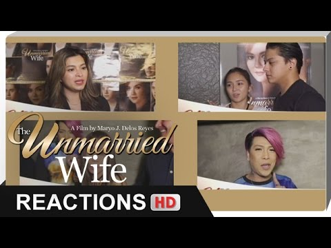Reactions - Kathryn, Daniel, Vice Ganda, Angel Locsin, Pokwang - 'The Unmarried Wife' - 동영상