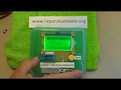 MEDIDA TRANSISTORES - USO DEL COMPROBADOR MULTICOMPONENTES ESR Meter 12864 LCD