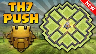 INCRÍVEL LAYOUT DE PUSH CV7 com Três [3x] Defesas Aéreas | Anti-Dragon | Clash of clans 2016