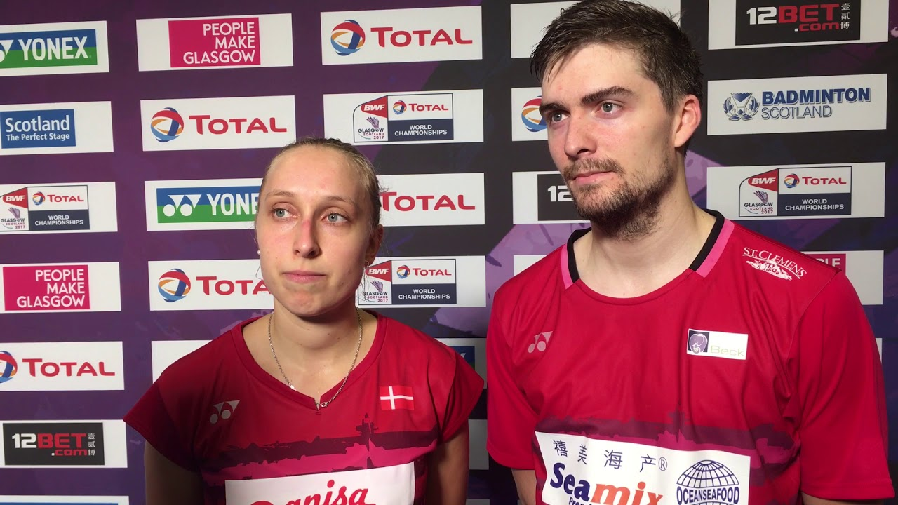 Sara Thygesen Mathias Christiansen efter deres sejr i anden runde