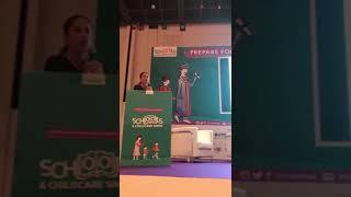 Zahra speaks at the Dubai Schools and Chilcare Show 2018