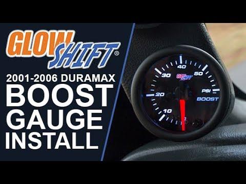 GlowShift 2000-2006 Chevy Duramax Diesel Gauge Package w// Tinted 7 Color Boost EGT /& Fuel Pressure