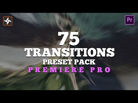 75 Free Smooth Transitions Preset Pack for Adobe Premiere Pro.    Tutorial Included    thumbnail