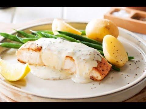 Fried Fish Cream Sauce Recipe - Fish & Potato Cakes - Potato Cakes - Cod Recipes - Easy Fish Recipes