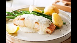 Fried Cod  With Potato Cakes & Cream Sauce Recipe
