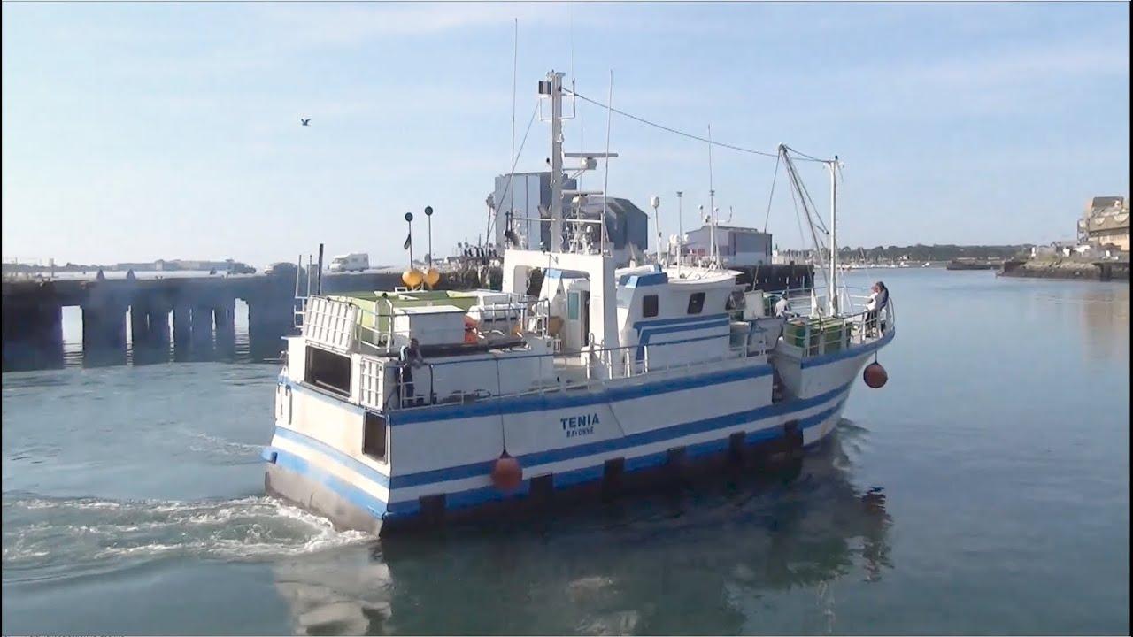 tenia bateau de handaye port de lorient fileyeur k 233 bayonne bretagne