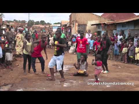 Ghetto Kids (triplets) dancing - follow me follow me