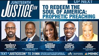 JusticeCon: To Redeem the Soul of America: Prophetic Preaching
