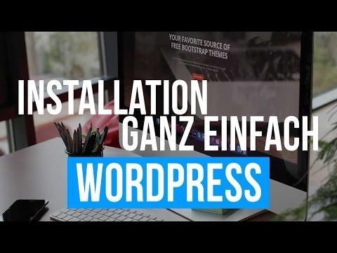 WordPress installieren Tutorial Deutsch – kostenlose Website 2017