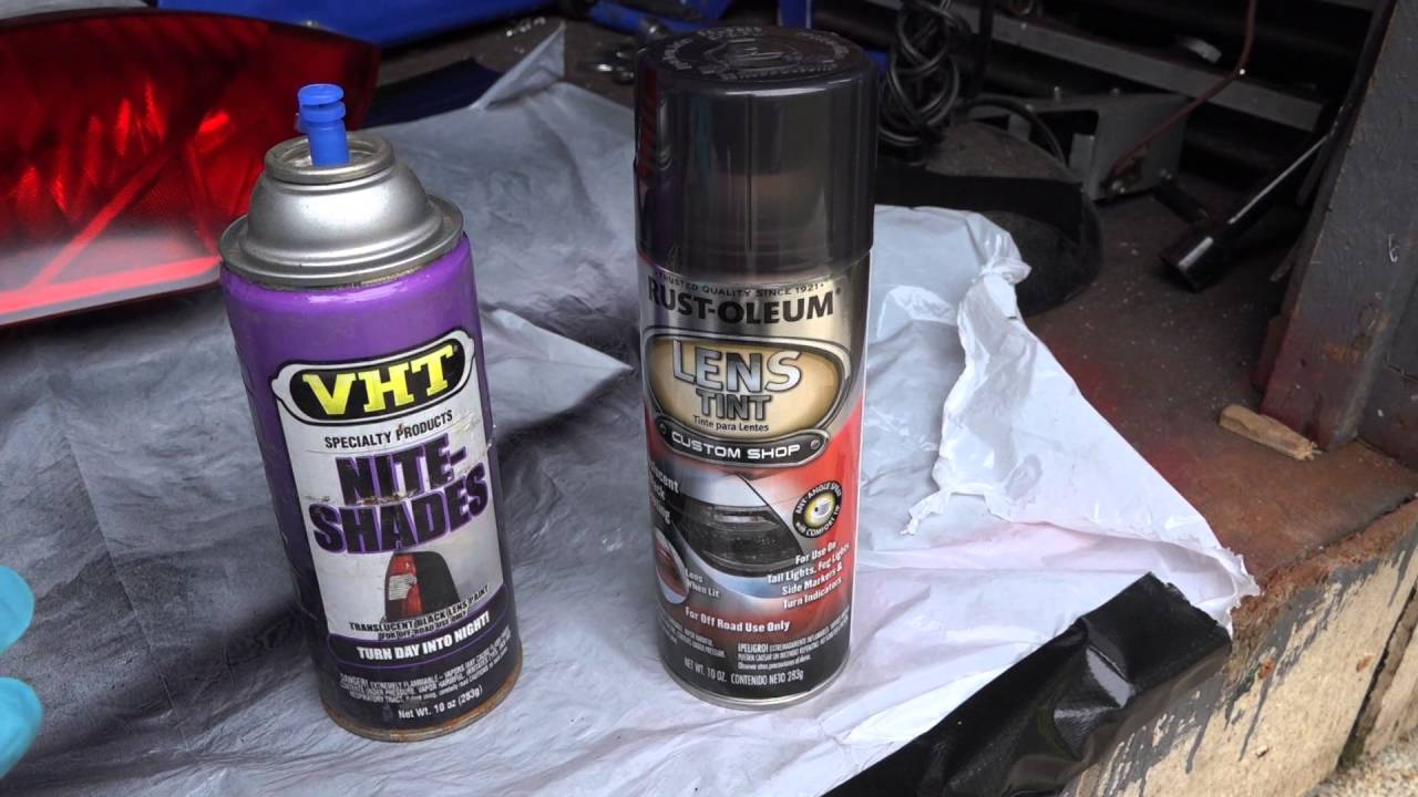 How To Tint Tail Lights Rust Oleum Lens Tint Mydiy