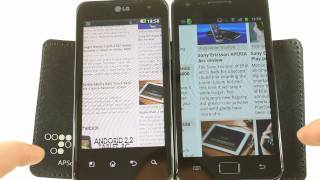 Web browsing: Samsung Galaxy S II vs. LG Optimus 2X