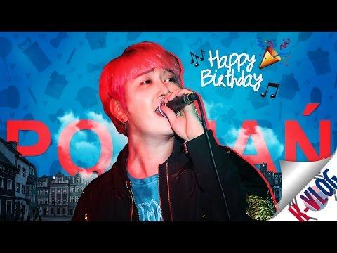 """K-VLOG: 배준렬 sings """"Happy Birthday"""" for one of us! (Poznań K-POP Party)"""