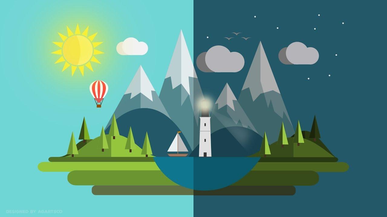 Earth 3d Live Wallpaper Windows 7 Flat Design Earth Day Illustrator Youtube