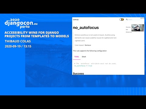 Image from Accessibility wins for Django projects - Thibaud Colas