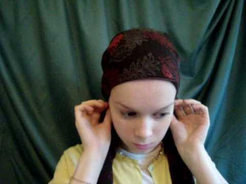 Simple Braid Crown head scarf look