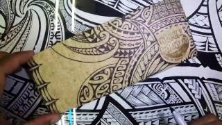 John Alefaio Timelapse Drawing on Green Banana Paper Wallet