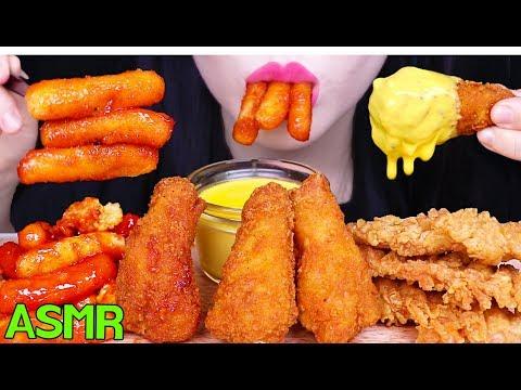 ASMR *CHEESY KFC CHICKEN TTEOKBOKKI KFC 치킨 떡볶이 먹방 (EATING SOUNDS) NO TALKING MUKBANG