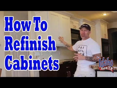 How To Paint Or Refinish Kitchen Cabinet Doors Cabinet Painting