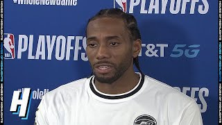 Kawhi Leonard Postgame Interview - Game 2 | Nuggets vs Clippers | September 5, 2020 NBA Playoffs