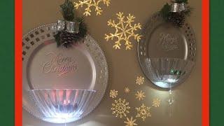 🎄💎 Dollar Tree DIY | Glam Christmas Wall Sconces 🎄💎