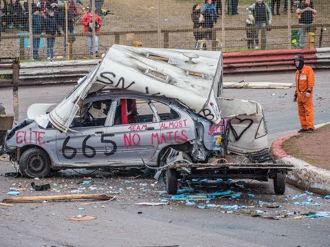Banger Racing Arena Essex Caravan Race - PRI Bangers Easter Monday 2018