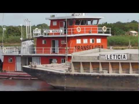Barge 'Leticia' Pushed by Tugboat 'Don Manuel' on the Paraguay River