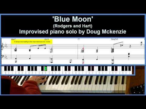 Blue Moon  jazz piano tutorial advanced