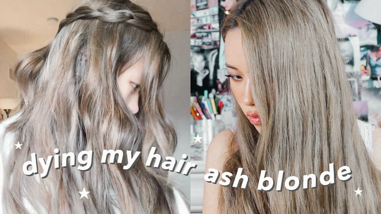 dying my hair dark ash blonde / light brown at home part 18