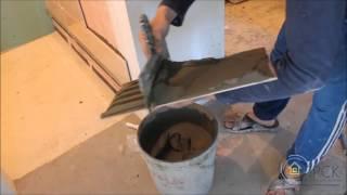 Видео урок как укладывать плиточный клей