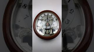 RHYTHM Global Timepiece Swarovski Crystals Angle Wall Clock - 2691F RARE!! $850