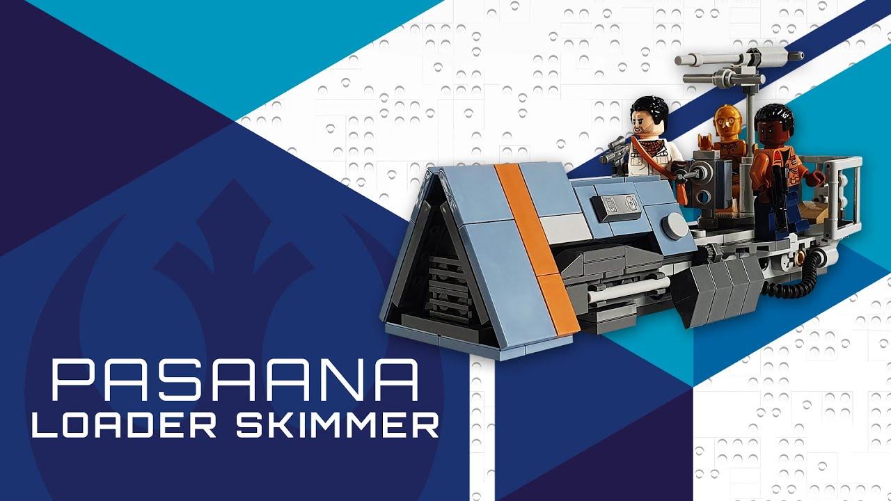lego star wars moc  pasaana loader skimmer tutorial