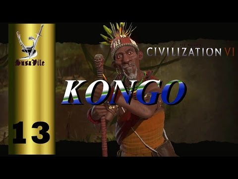 "Ep 13 - Civilization VI Kongo ""Setting up for the Lisbon attack"""