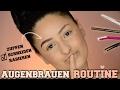 Augenbrauen-Routine UPDATE | Zupfen,Schneiden,Ausfüllen | mwHANNAH