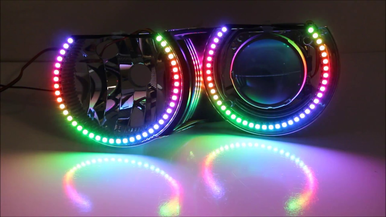 Ijdmtoy Rgbw Color Shifting Led Halo Rings Part 1 Rainbow Effects