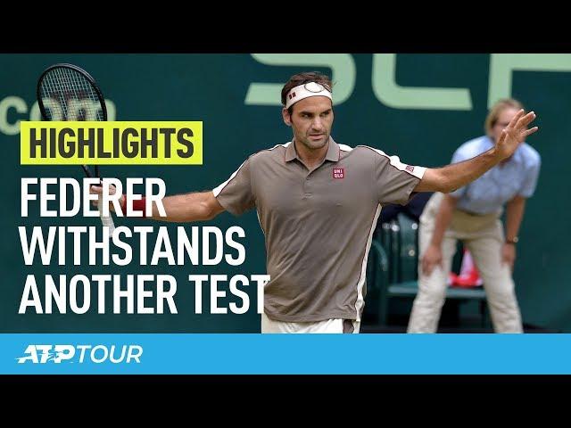 Federer Survives Another Challenge At Halle | HIGHLIGHTS | ATP