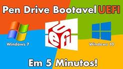 Criar Pen Drive UEFI Em 5 Min Windows 7 e Windows 10 64 Bits
