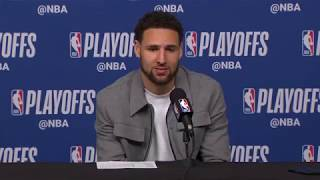 Klay Thompson Postgame Press Conference | Warriors vs Rockets Game 6