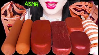 ASMR CHOCOLATE ICE CREAM PARFAIT, DARK CHOCOLATE, MAGNUM ICE CREAM 초콜릿 아이스크림 파르페 먹방 EATING SOUNDS
