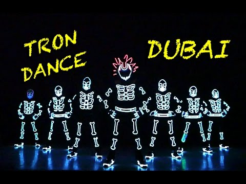 LED Tron Dance For DHL In Dubai UAE