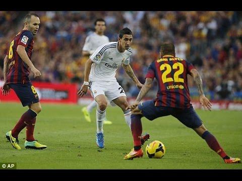 Ángel Di María ● All Skills Vs Barcelona  ●  Assists / Goals 2010 - 2014 ● HD