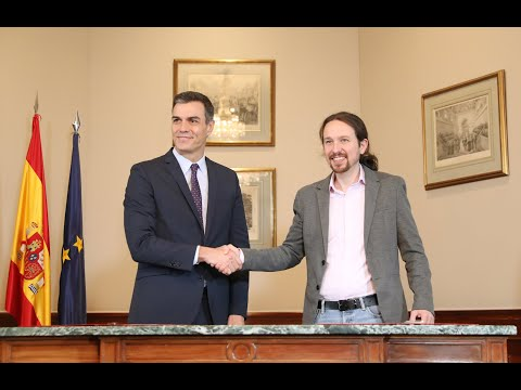 Comparecencia de Pedro Sánchez y Pablo Iglesias en el Congreso