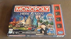 Monopoly Here & Now Edition Board Game Unboxing