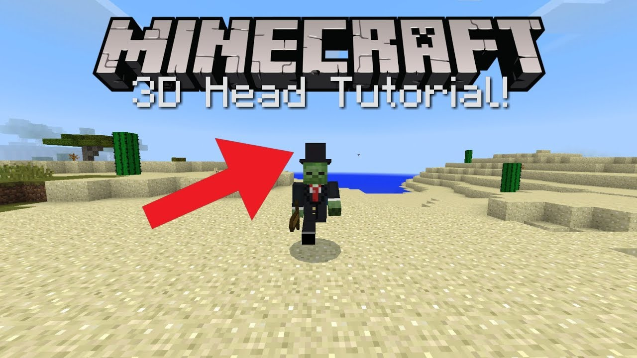 how to get custom heads in minecraft bedrock edition