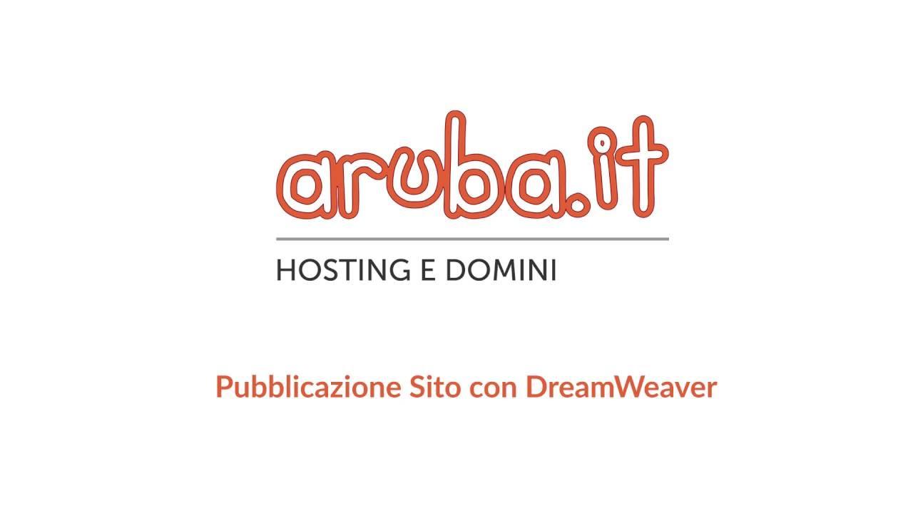 un sito con dreamweaver